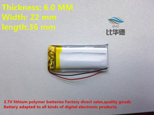 (free shipping) 602236 450mah lithium-ion polymer battery quality goods quality of CE FCC ROHS certification authority(China)