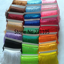 10Meter/Lot 15CM Long Lace Trim Polyester Material Tassel Fringe Trimming For Diy Latin Dress Stage Clothes Accessories 28Color