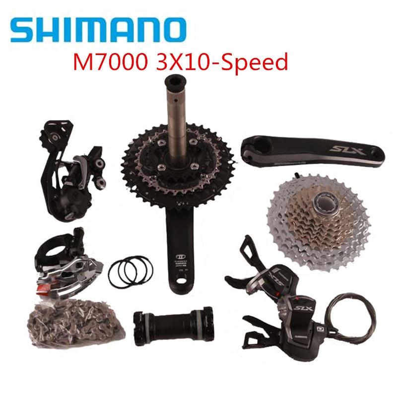 SHIMANO Deore M610 3x10 Speed MTB Groupset W//M615 Brake Set/&Rotors 9 Pcs