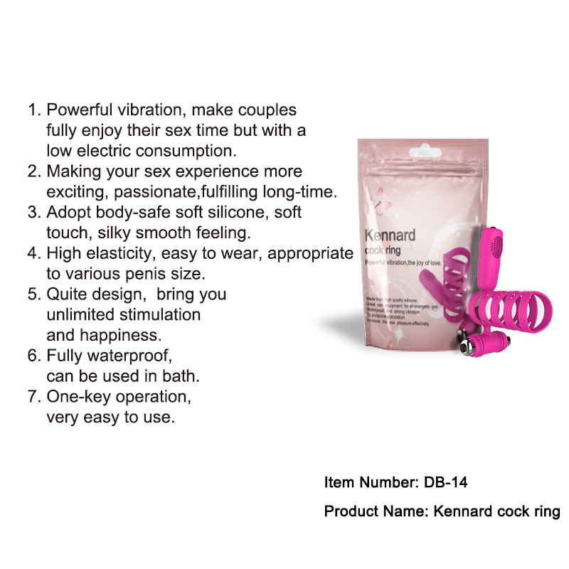 DIBE Sex Product Silicone Penis Rings Cock Ring Waterproof Vibrating Sex Toys For Men Double Vibration Ejaculation Delay ELDJ295 2