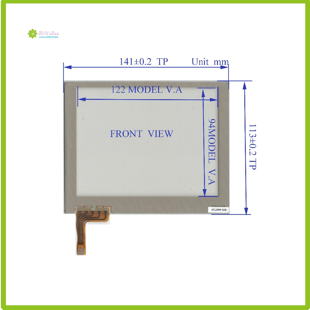 ZhiYuSun TR5-057F 141mm*113mm touch sensor NEW 5.7inch 5line touch panel glass 141*113  forIndustrial application made in taiwan<br>