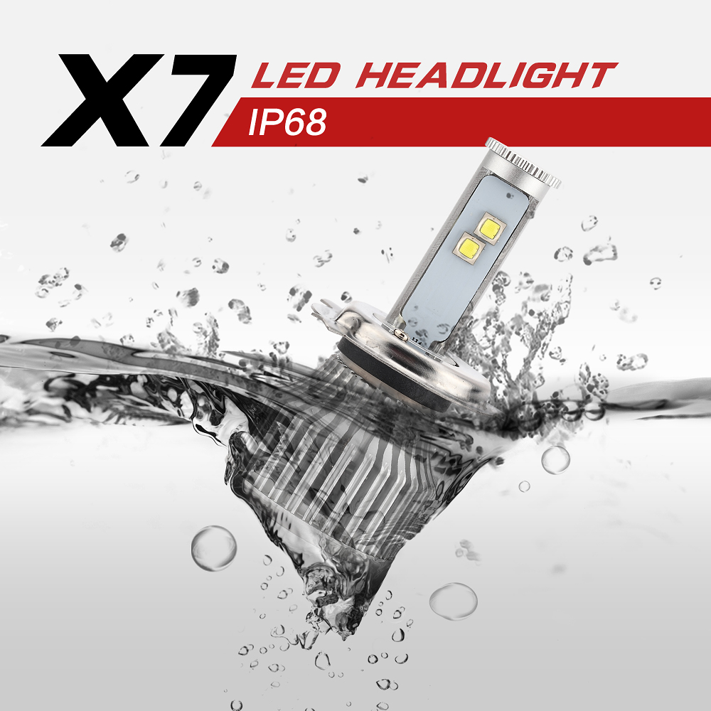 High Power H4 LED Car Headlight 60W 4800LM LED H4-3 9004 9007 H13 Hi/lo Beam Aluminum Alloy Automotive Headlamp Strong Bright<br><br>Aliexpress