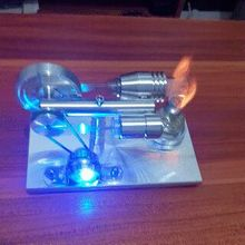 2016 New DIY Hot Air Stirling Engine Model Generator Motor with LED Light steam generator model hobby birthday gift Toys(China)