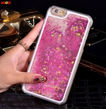 LELOZI Transparent Dynamic Liquid Water Glitter Paillette Sand Quicksand Star Cover phone Case For iphone 5 5s 5G(China)