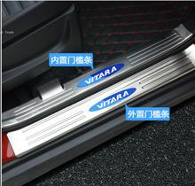 Automotive accessories Lengthened point paint section Internal external Scuff Plate/Door Sill for 2016 Suzuki Vitara Car styling