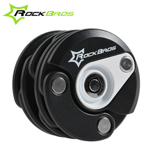 ROCKBROS German Reddot Design Award Bike Motorcycle Electric Bicycle High Security & Drill Resistant Lock Cylinder Lock, 4Color