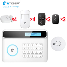 GSM/PSTN home security phone APP control long battery use life smart smoke detector monitor detector alarm system(China)