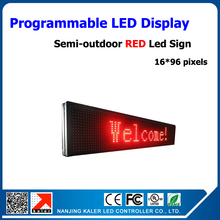 free shipping semi-outdoor LED display with p10 led display panel red p10 led module 320*160mm 24*104cm led signs(China)