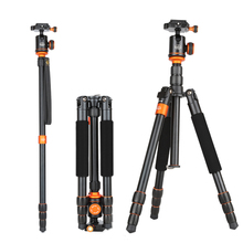 SL288 Professional Portable Travel Aluminum Camera Tripod&panoramic ball  Head for SLR DSLR Digital Camera  orange  color