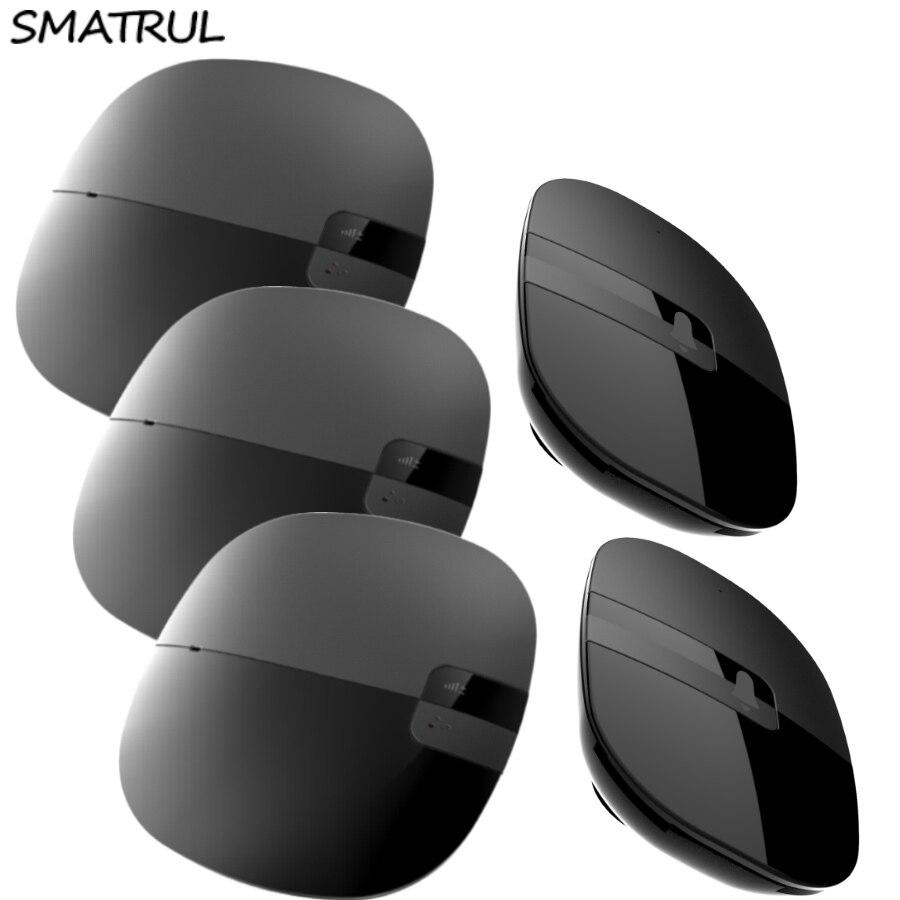 SMATRUL Waterproof Wireless Doorbell Slim EU Plug 280M Remote black smart Door Bell 2 button 3 receiver with batttery 110V 220V<br>