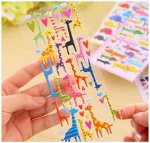 1pcs/lot  elephant cat dog giraffe 3D sticker  Cartoon PVC animal Decoration label Multifunction DIY stickers   Sign post