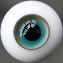 [wamami] L8728-1# 12mm Glass Eyes/Green & Light Gray Eyes/Outfit For BJD Dollfie(China)