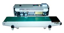 Continuous Automatic Plastic Bag Sealing Machine ,Band Film Sealer(Sealing Width:6-12MM),steel wheel printing(China)
