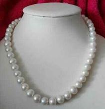 free shipping Noble jewelry single strands AAA10-11mm south sea round ligh grey pearl necklace 18inch(China)