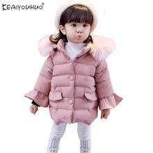 KEAIYOUHUO 2017 Winter Coats Jackets For Girls Clothes Cotton Baby Girl Coats Long Sleeve Children Clothing Christmas Outerwear(China)