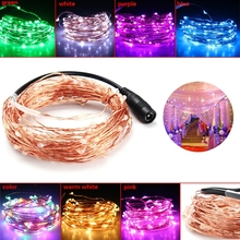 LED Strip Waterproof 10M 100LED 12V Copper Wire Light Fairy Lamp Christmas Party Decoration neon light(China)