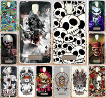 Case For Fundas Lenovo A2010 A 2010 Colorful Skull Design Cool Head Painting Hard PC Protector Phone Case Cover Shell Hood Capa