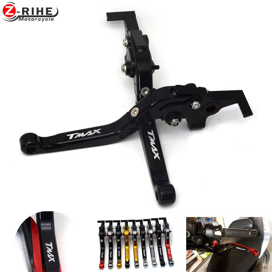 Motorcycle CNC Aluminum Foldable&amp;Extendable Brake Clutch Levers For yamaha T-MAX tmax 530 T-MAX530 tmax530 tmax 500 2008-2016<br>