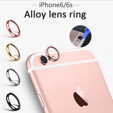 New Arrival Fashion Rear Camera Glass Guard Circle Metal Lens Protective Case Cover Ring Bumper For iPhone 6 6s 4.7/6s Plus 5.5
