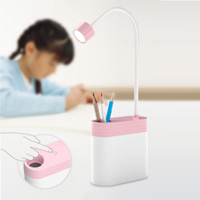 Table Lamp Money Box Night Light Pen Container 5V Rechargable LED Desk Lamp 3 Mode Multifunction(China)