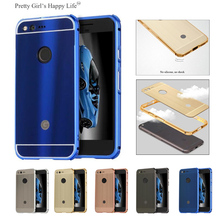 For Google Pixel ShockProof Aluminum Metal Bumper Case Cover For Google Pixel XL Brushed Capa Funads Pretty Girl's Happy Life