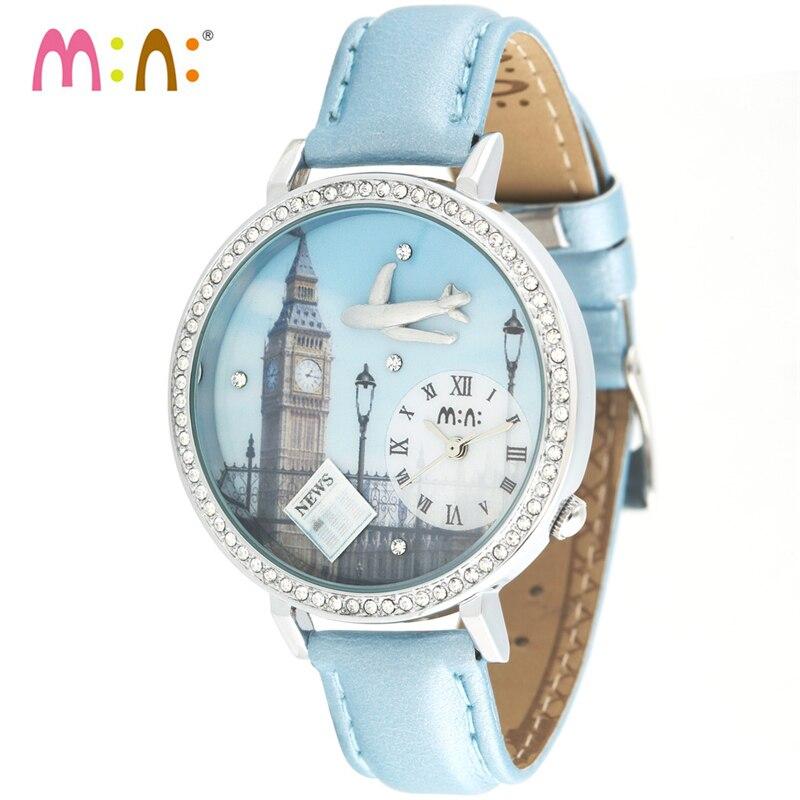 Luxury Brand Women Watches 2017 Fashion Waterproof 3D Airplane Bracelet Ladies Quartz Wrist Watch Clock Woman Relogio Feminino<br>