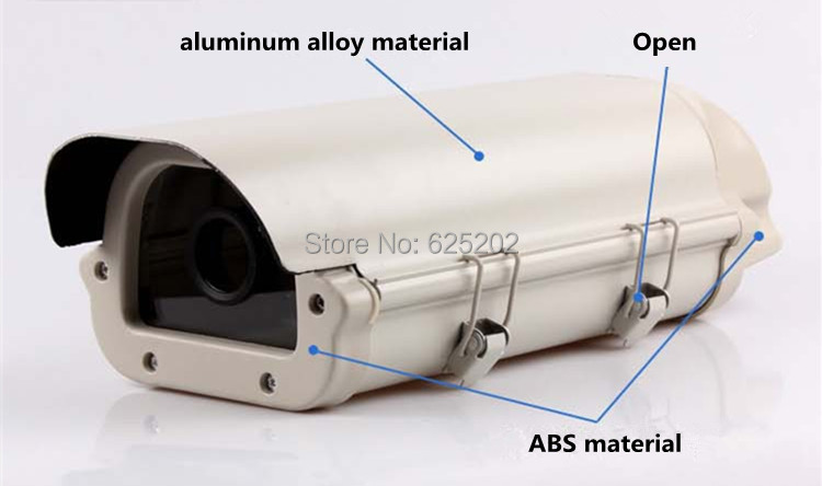 Factory Direct Sales Dual-glass Surveillance Camera Housing CCTV Camera Shell Cover 33*13*10cm<br>