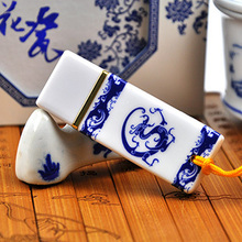 Ceramic China Style Mini Usb Flash Drive 64GB Pen Drive USB 512GB Pendrive 32GB 16GB 128GB Gift Flash Memory Card Stick 2.0