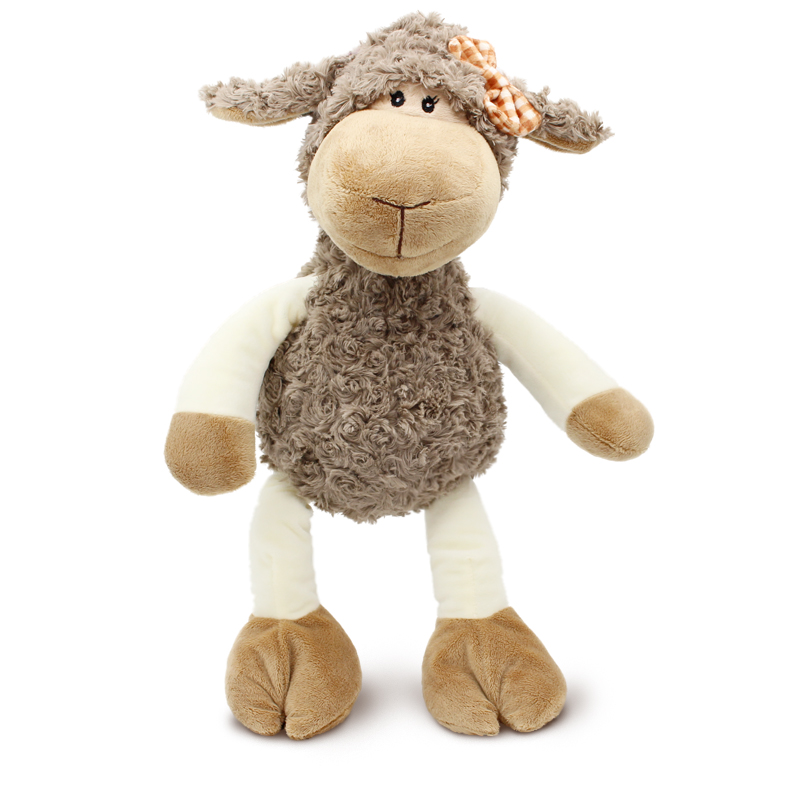 35cm and 45cm High-quality Sheep plush kids toys Lovely Lamb Stuffed Dolls soft sleeping toys for children Christmas gift(China)