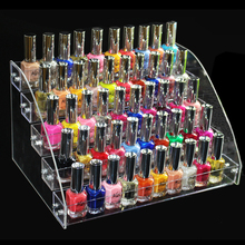 New Fashion Nail Tools Clear Transparent Acrylic Nail Polish Salon Exhibition Wall 5 Layers Nail Polish Rack Storage Shelf