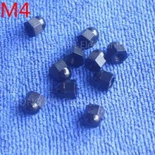 M4 1 pcs Black Nylon acorn nuts /4mm Protection Dome Head hex Cover Nuts/Plastic hexagon Cap Nut brand new high-quality