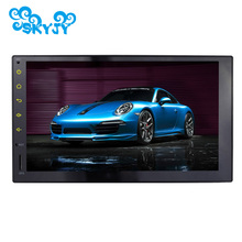 New 7 Inch Double 2 Din Quad Core 1024*600 Full Touch Screen Universal Car Audio Radio Android 5.1.1 Lollipop Car GPS Navigation(China)