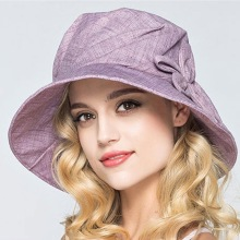 Lady Summer Beach Foldable Wide Brim Fisherman Hat Women Fashion Cotton Flower Plain Bucket Hats(China)