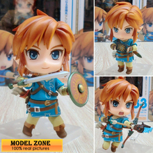 ZXZ 2017 NEW 10cm NO.733 The Legend of Zelda Breath of the Wild Link PVC Action Figure Collectible Model Toy QQ008(China)