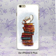 Harry Potter Owl Hedwig Book Pattern hard White Skin Case Cover for iPhone 4 4s 5 5s 5c 6 6s 6 Plus 6s Plus
