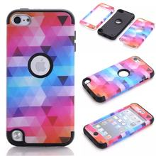 For Apple iPod Touch 6 Case Silicone Shockproof Back Cover Case For Coque iPod Touch Case 3 in 1 Colorful Phone Case Accessories(China)