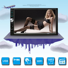 "7"" inch HD Digital TFT Touch Button LCD Digital Screen Car Headrest Monitor DVD Player USB/SD MP5 MP3 Player Game Radio"