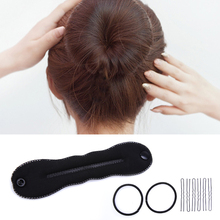 3 Pcs/Set High Quality Black Hair Twist Styling Tools Bun Roller Maker Barrette for Women Girls Hair Accessories