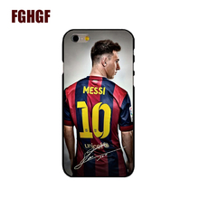 New Lionel Messi Bar FOOTBALL Hard black Cover cell phone Case for iPhone 4 4S 5 5S 5c se 6 6S 7 7 Plus 6SPlus 8 8plus x(China)