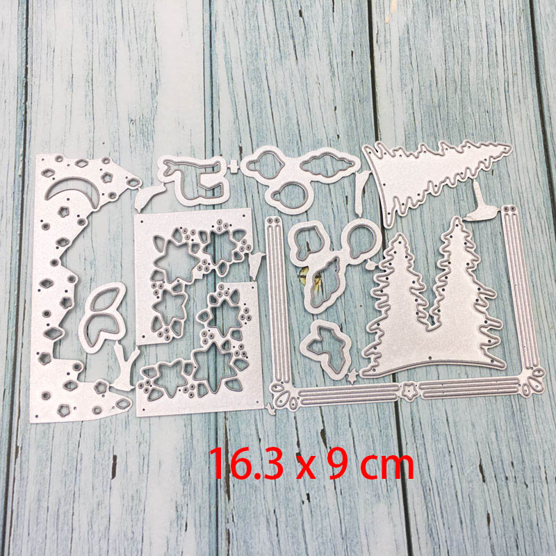 CN/_ Metal Letter Frame Cutting Dies Stencils Greeting Card Embossing Craft DIY