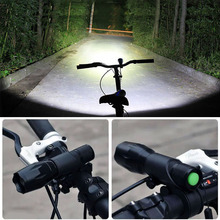 Bicycle Light 3800 Lumens 5 Modes Flashlight CREE XML-T6 LED Cycling Front Light Zoom Waterproof Bike lights with Torch Mount