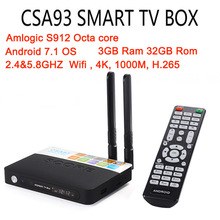 Buy CSA93 Android 7.1 Smart TV Box Amlogic S912 Octa Core 3G+32G/2G+16G KODI 17.3 1000M LAN Dual WiFi BT4.0 Set Top Box Media Player for $54.68 in AliExpress store