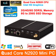 Quad Core Mini PC Windows 7 Celeron N2920 Processor Mini Computer Full HD 1080P output Barebone Mini Computer HDMI Computador