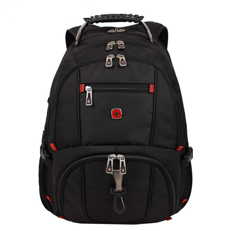 Tough Quality Swiss Backpack Fashion Large Size 17 Notebook Laptop Rucksack Man Bag Student Canvas Schoolbag Travel Waterproof<br><br>Aliexpress