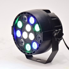 Flat 12 Led Par Stage Light RGB 1W Disco Party Lights Laser Dmx Luz DJ Effect Controller Dj Equipment Projector Luces Discoteca(China)