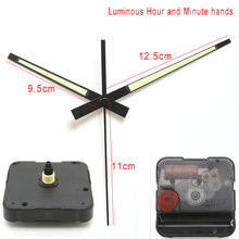 12888 6mm screw length Clock Accessory Quartz Movement Plastic Sweep Movement With Luminous Clock Hand 26# DIY Clock Kits
