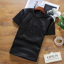 Asian Fashion Private & Custom TOP Quality AF Anjoy&Fitch Brand Casual T Shirt Men T-shirt fashion T Shirt Men Fitness Clothing(China)