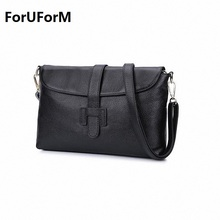 2017 Women's genuine leather Messenger Bags Fashion Vintage Small real Leather Handbag New Summer Casual crossbody Bag LI-1048