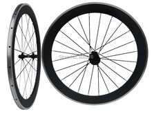 WS-CW026 : Carbon Matt Cycling Road Bike Clincher wheelset 60mm 700C Bicycle Wheel Rim with Alloy Brake Surface