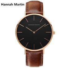 Hannah Martin Brand HM Men Fashion Business Watches Classic Europe Elite Men Choose Wristwatch Waterproof Gift XF Top 1030